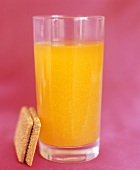 Orange juice (made from low-calorie powder) & diet biscuit