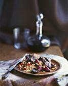 Boeuf Bourguignon with mushroom couscous