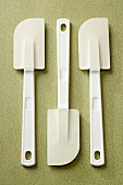 Overhead of Three White Rubber Spatulas