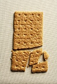 Graham Cracker with Bottom Half Broken into Pieces