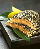 Salmon Fillets with Sesame Seed Crust