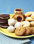 Assorted Cookies on a Plate