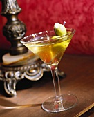 A Dirty Martini with Blue Cheese Stuffed Olive
