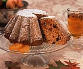 Candied Pumpkin Raisin Cake on a Plate