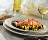 Baked Salmon with Fruit Salsa