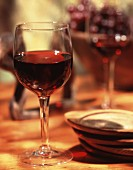 Glass of Red Wine with Coasters