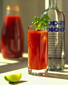 Bloody Mary with Bottle and Lime