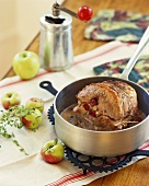 Pork Roast Stuffed with Apples and Cranberries