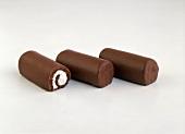 Three Chocolate Roll Yodels