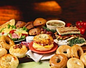 Assorted Bagels, Sandwiches, Muffins and Soups