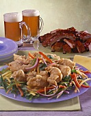 Asian Shrimp with Ribs and Beer