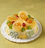 Cassata siciliana (Cake with candied fruit, Italy)