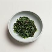 Plate of Seasoned Seaweed