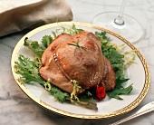 Fried goose liver