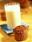 Carrot Muffin with a Banana Smoothie