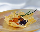 Caviar and Sour Cream Appetizer
