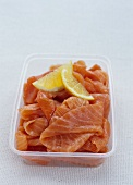 Smoked Salmon in a Plastic Container