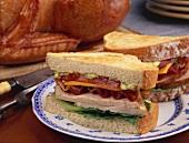 Clubsandwiches mit Truthahn