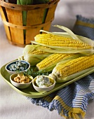 Corn on the Cob with Assorted Butters