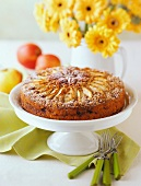 Apple Nut Upside Down Cake