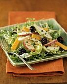 Salad Greens with Apples and Berries