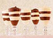 Chocolate and Vanilla Pudding Parfaits