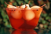 Poached Pears in a Bowl