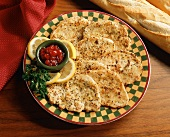 Sliced Turkey Cutlets with Lemon Pepper and Cranberry Relish