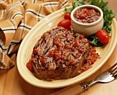 Grilled Filet Mignon Steak with Salsa