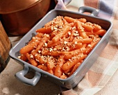 Baby Carrots with Syrup and Pecan Glaze