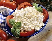 Cottage Cheese with Sliced Tomatoes