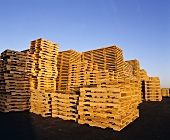 Wood Pallets Stacked in California