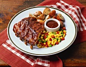 Barbecued Rib Dinner