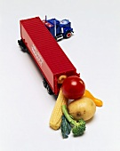 Toy Produce Truck with Vegetables