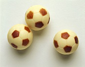 White Chocolate Candy Soccer Balls