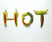 Chili Peppers Spelling HOT