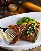 Grilled Peppered Crusted Rib Steak