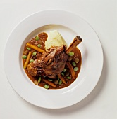 Osso Bucco Made with Lamb; From Above