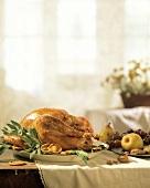 Roasted Turkey on a Table