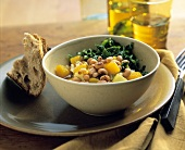 Black-Eyed Peas with Greens and Squash