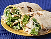 Chicken Caesar Salad Wrap Sandwich