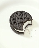 Oreo Cookie with a Bite Taken Out