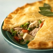 Chicken Pot Pie with a Piece Removed