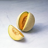 Cantaloupe Melon with a Wedge Cut Out