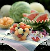 Melon Balls in a Glass Bowl