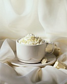 Hot Cocoa with Whipped Cream; White Chocolate