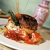 Fillet steak and lobster