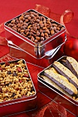 Small Tins of Snacks and Dessert as Gifts