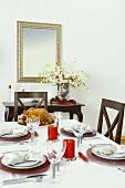 Roast Turkey on Christmas Table