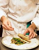 Chef Plating White Fish